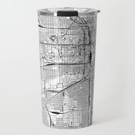 Chicago White Map Travel Mug