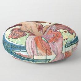 Alfons  Mucha The Arts Dance Floor Pillow