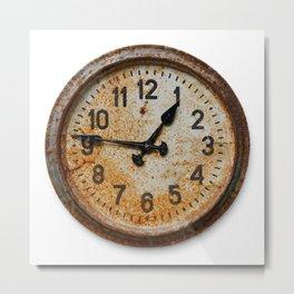Old wall clock Metal Print