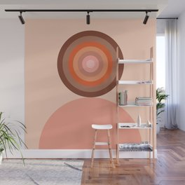 Abstraction_Circles_Tones_Minimalism_001 Wall Mural