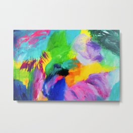 Bright, bold and colourful abstract Metal Print