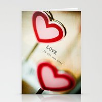 all you need is love Stationery Cards featuring Love is All You Need by Olivia Joy StClaire