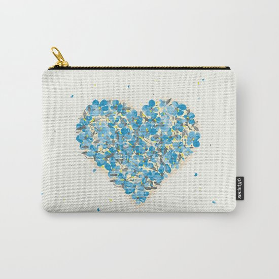 forget-me-nots heart Carry-All Pouch