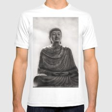 Meditation MEDIUM White Mens Fitted Tee