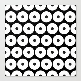 Navajo Black and White Pattern: Circle as a union Canvas Print