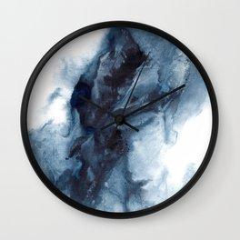 Indigo Depths No. 1 Wall Clock