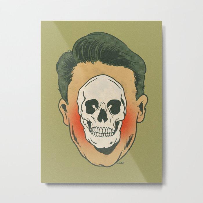 Dead Inside (green) Metal Print