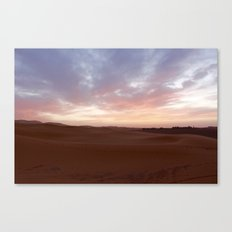 Sunset in the Sahara Canvas Print