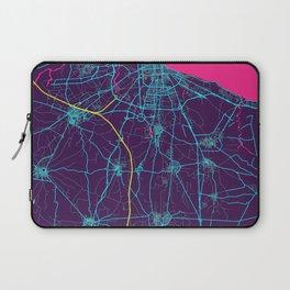 Bari Neon City Map, Bari Minimalist City Map Art Print Laptop Sleeve