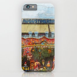 Munich Beer Festival - fairy tale train and Bierzelt iPhone Case