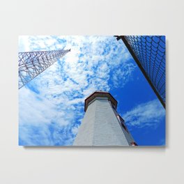 North Cape Lighthouse and Communication Tower Metal Print