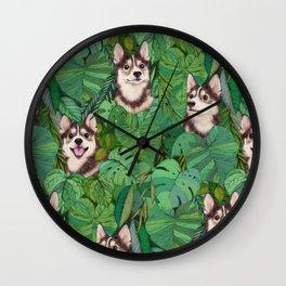 Pomsky Garden Wall Clock