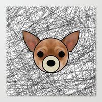 chihuahua Canvas Prints featuring Chihuahua by lllg