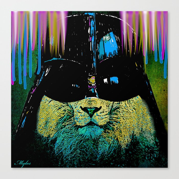 DARTH LION HIPSTER Canvas Print
