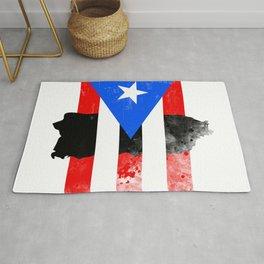 Puerto Rico + Flag Rug
