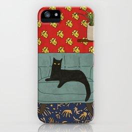 Le salon du  chat iPhone Case