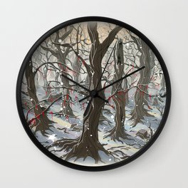 A Forest Wall Clock