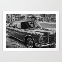 Classic Limousine Art Print
