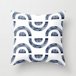 Watercolor Ocean Wave - Handpainted Abstract Art Throw Pillow