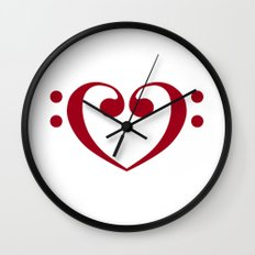 In love with music Wall Clock