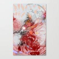 the thing Canvas Prints featuring Thing by Alex Ruddell