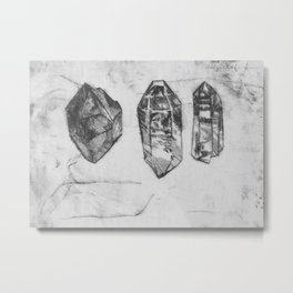 Trilogy of Gem Stones Metal Print
