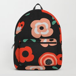 Midnight floral decor Backpack