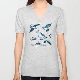 Seagulls Unisex V-Neck