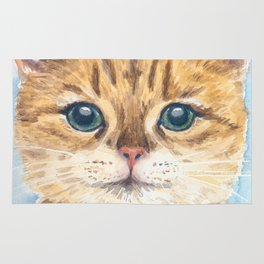 Yellow tabby cat Rug