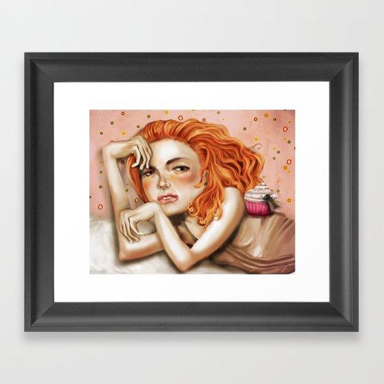 Miss Muffet Framed Art Print