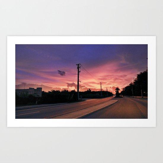 Miami Sunrise Art Print