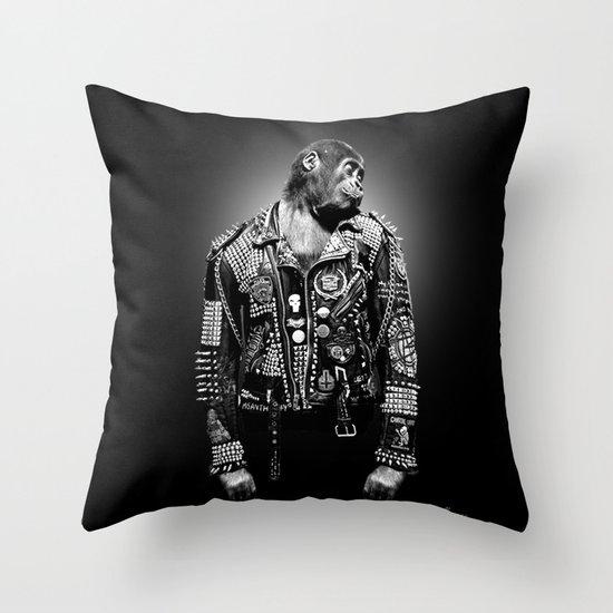 monkey , gorilla  Throw Pillow