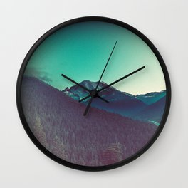 Mt. Olympus in Olympic National Park Wall Clock
