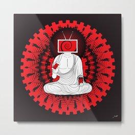 Manipulated Buddha Metal Print