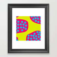 Green Purple Dots Framed Art Print