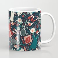 tennis Mugs featuring Tennis Style by Anna Deegan