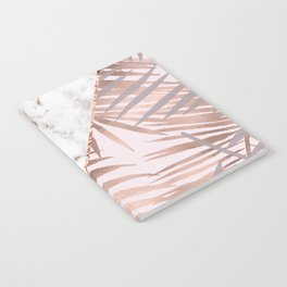 Rose gold marble & tropical ferns Notebook
