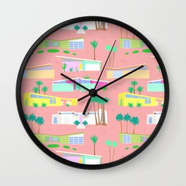 Palm Springs Houses Wall Clock