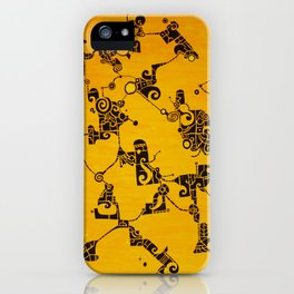 Yellow Abstract Pattern Painting iPhone Case
