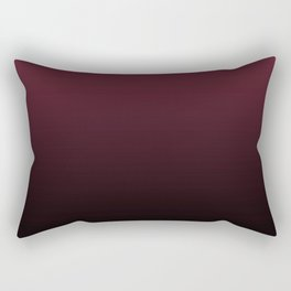 Burgundy Wine Ombre Gradient Rectangular Pillow