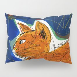 Socca Ginger Cat Art Pillow Sham