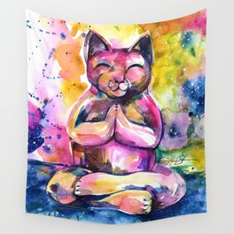 Buddha Cat No. 11 Wall Tapestry
