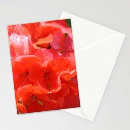 Zonal Geranium Pelargonium hortorum Stationery Cards