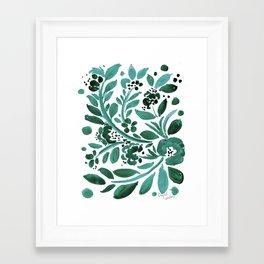 Jade Floral Framed Art Print