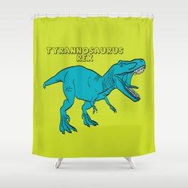 Dino Print T-Rex Shower Curtain
