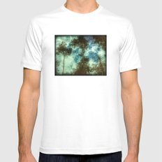 Forest Memories Mens Fitted Tee MEDIUM White