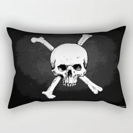 Skull and Crossed Bones Rectangular Pillow