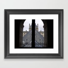 Louvre Pyramid Framed Art Print