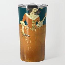 Lady Pumpkin for Halloween Travel Mug