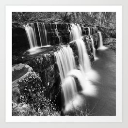 Waterfalls in Brecon Art Print